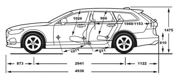 Volvo V90 Abmessungen Technische Daten Lange Breite