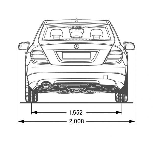 Mercedes Benz C Klasse Limousine W 204 Abmessungen