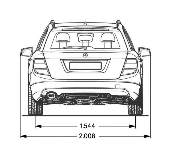 Mercedes benz c klasse t modell s 204 abmessungen for Mazda 5 breite mit spiegel