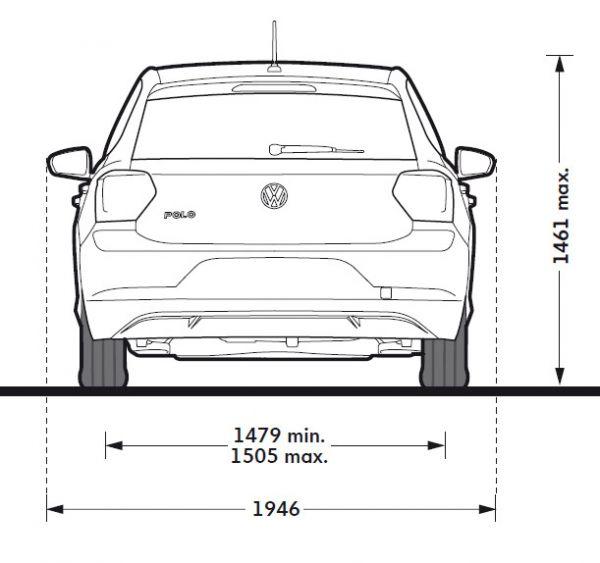 Vw polo vi abmessungen technische daten l nge for Vw polo breite mit spiegel