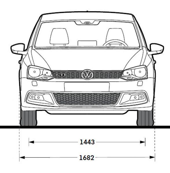 Vw polo v gti abmessungen technische daten l nge for Vw polo breite mit spiegel