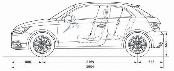 Audi A1 8x Abmessungen Amp Technische Daten L 228 Nge