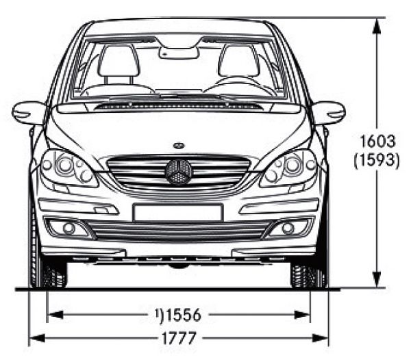 Mercedes-Benz B-Klasse (T 245) - Abmessungen & Technische ...