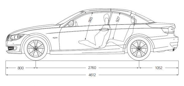 bmw 3er cabrio e93 abmessungen technische daten l nge breite h he gep ckraumvolumen. Black Bedroom Furniture Sets. Home Design Ideas