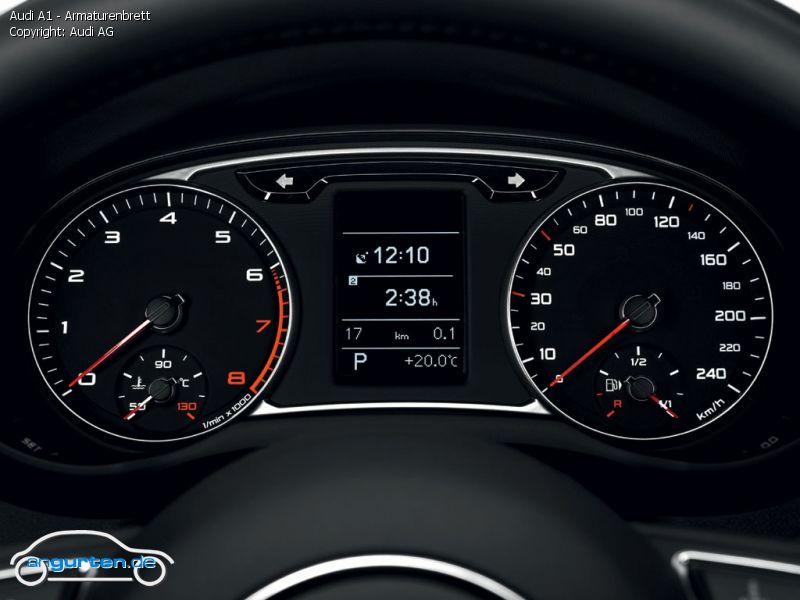 Armaturenbrett audi  Foto (Bild): Audi A1 - Armaturenbrett (angurten.de)