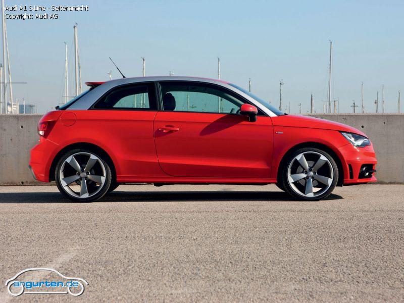 Foto Audi A1 S Line Seitenansicht Bilder Audi A1 S