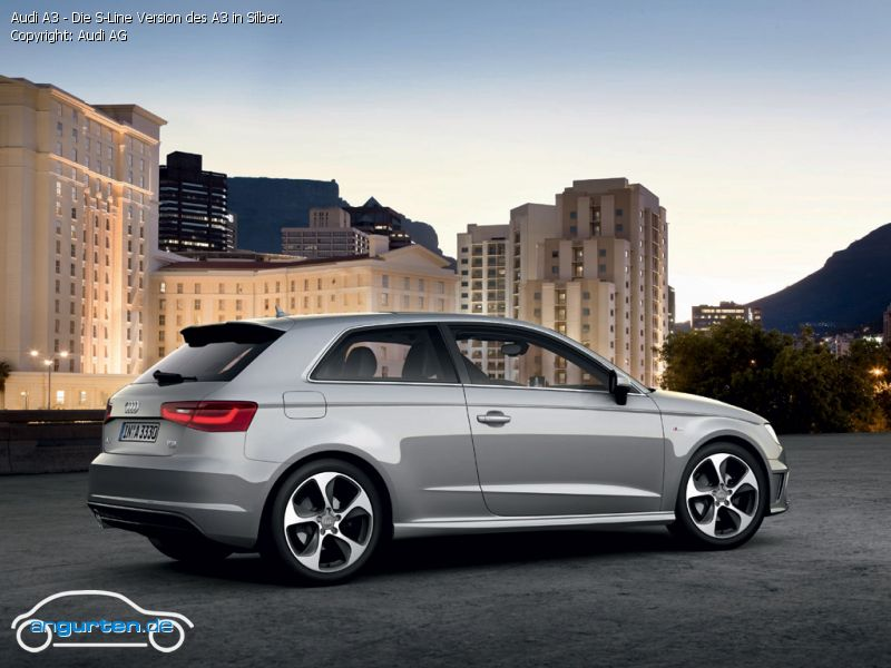 foto bild audi a3 die s line version des a3 in silber. Black Bedroom Furniture Sets. Home Design Ideas