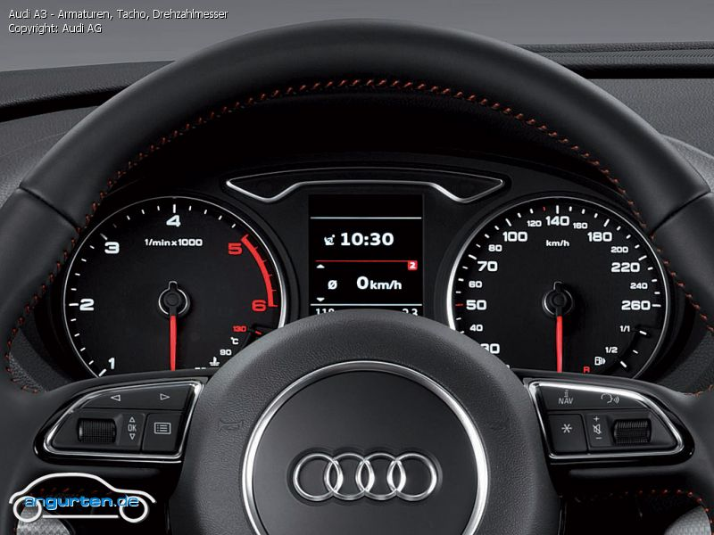 Foto Bild Audi A3 Armaturen Tacho Drehzahlmesser