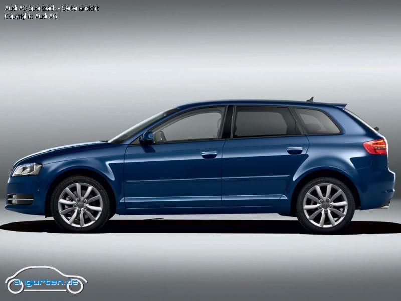 Foto Audi A3 Sportback Seitenansicht Bilder Audi A3