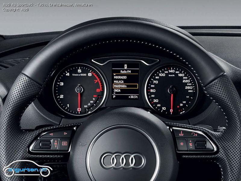 Foto Audi A3 Sportback Tacho Drehzalmesser Armaturen