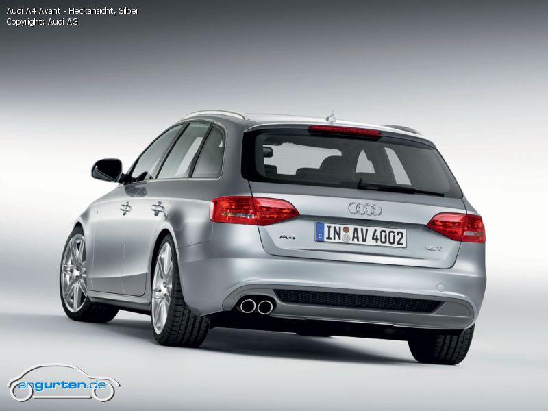Foto Audi A4 Avant Heckansicht Silber Bilder Audi A4
