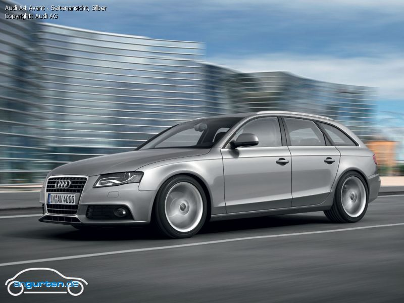Foto Audi A4 Avant Seitenansicht Silber Bilder Audi