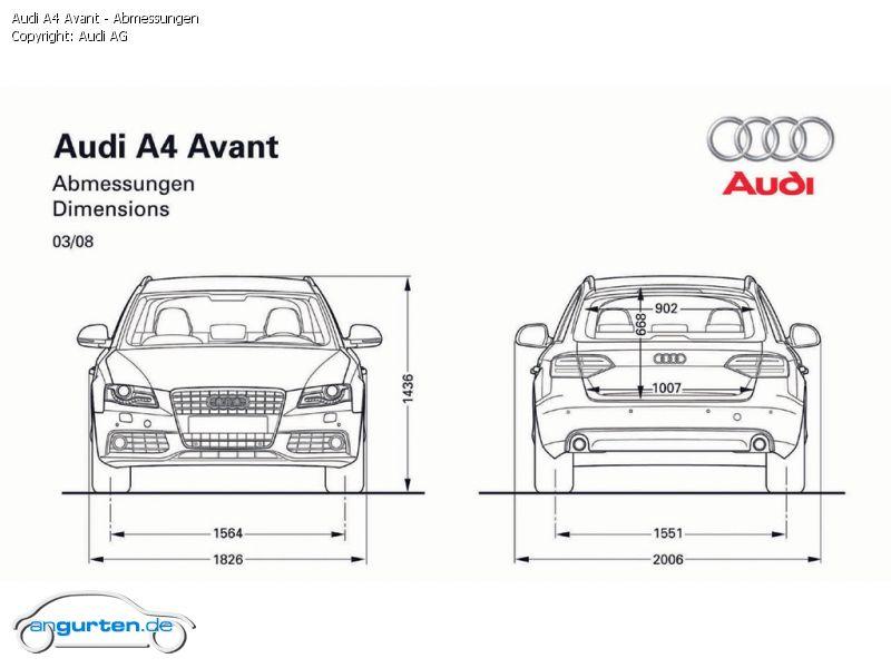 Foto Audi A4 Avant Abmessungen Bilder Audi A4 Avant