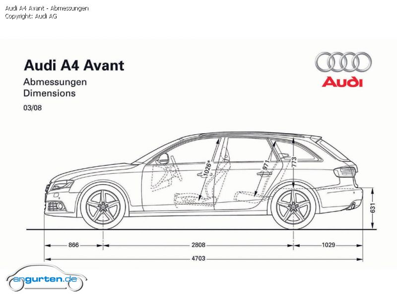Foto Bild Audi A4 Avant Abmessungen Angurten De
