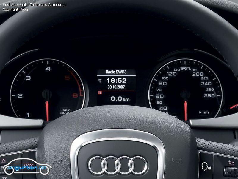 Foto Audi A4 Avant Tacho Und Armaturen Bilder Audi A4
