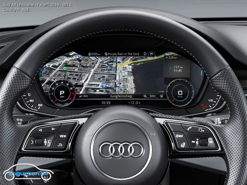 Foto Bild Audi A4 Limousine Facelift 2019 Bild 6 Angurtende