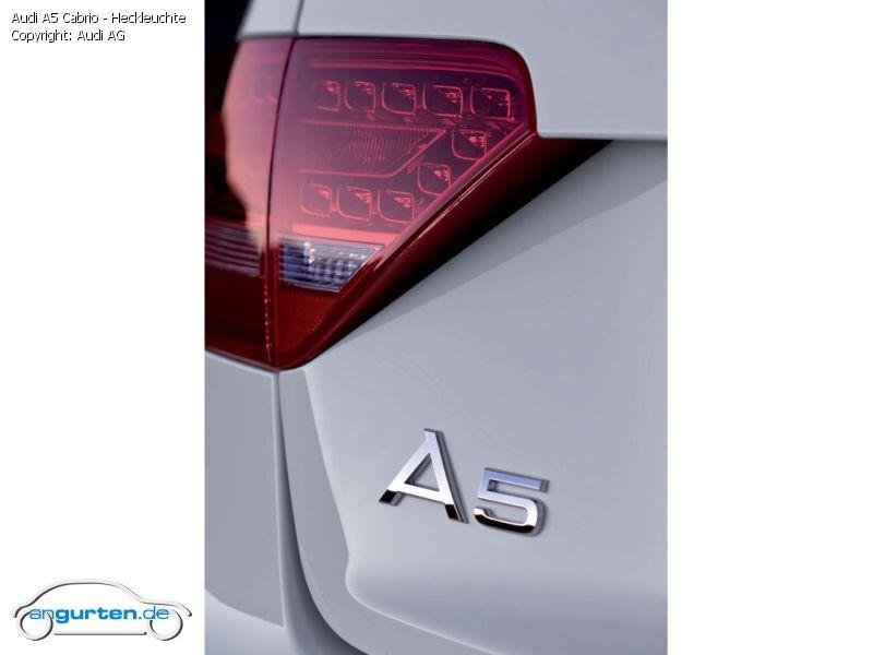 Foto Audi A5 Cabrio Heckleuchte Bilder Audi A5 Cabrio