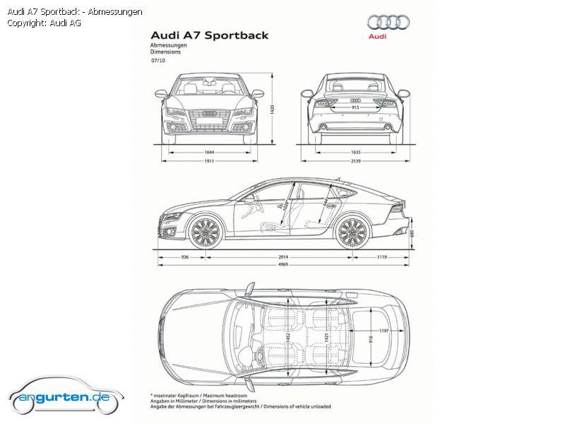 Foto Audi A7 Sportback Abmessungen Bilder Audi A7