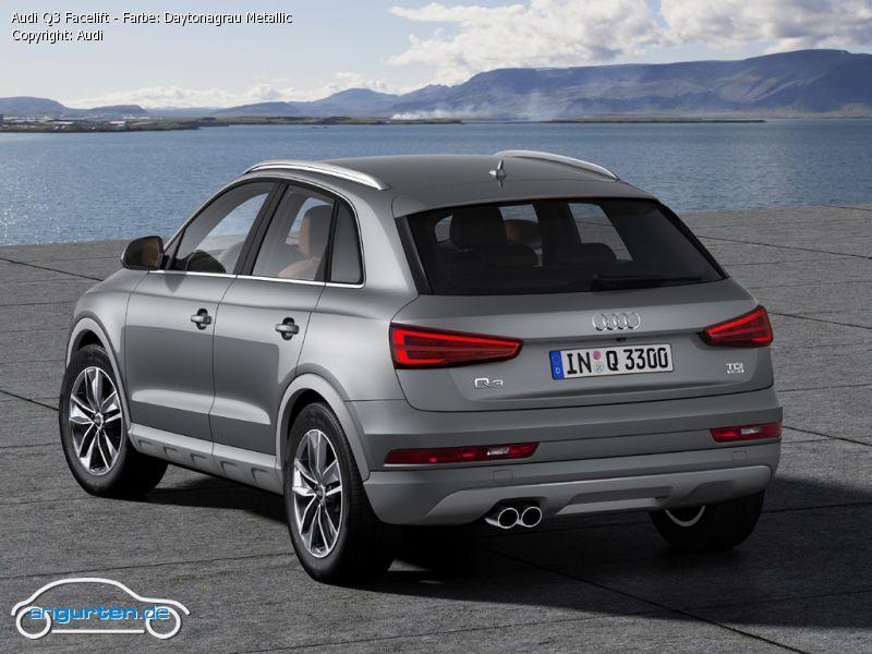 Foto Audi Q3 Facelift Farbe Daytonagrau Metallic