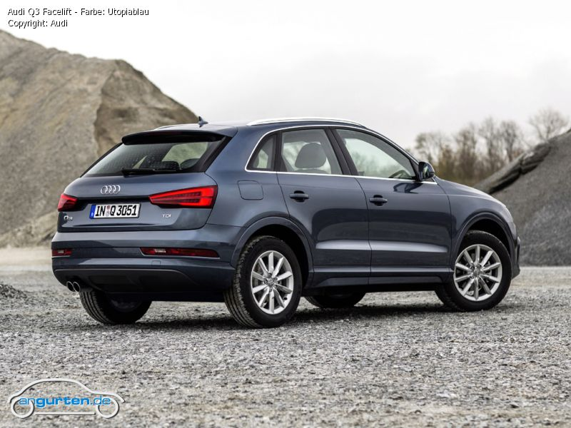 Audi Q3 Utopiablau Metallic Farben