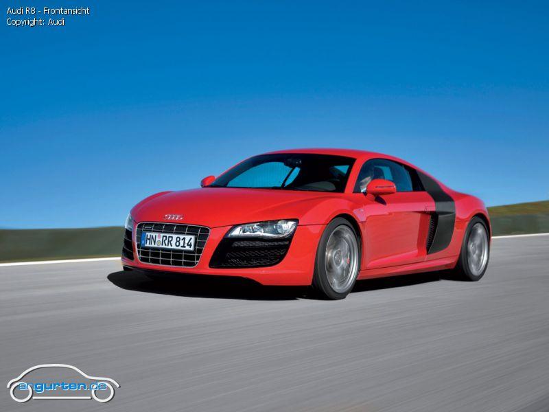 Foto Audi R8 Frontansicht Bilder Audi R8 Bildgalerie