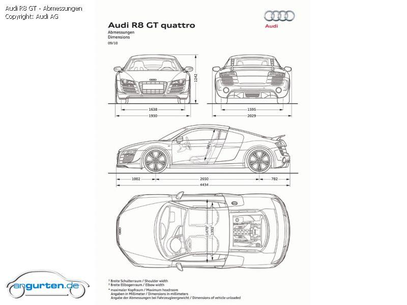Foto Audi R8 Gt Abmessungen Bilder Audi R8 Gt