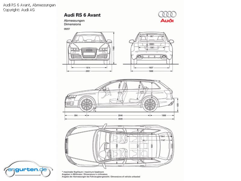 Foto Bild Audi Rs 6 Avant Abmessungen Angurten De