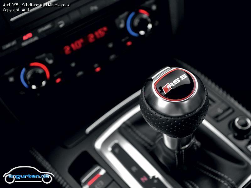 Foto Audi RS5 - Schaltung und Mittelkonsole - Bilder Audi ...