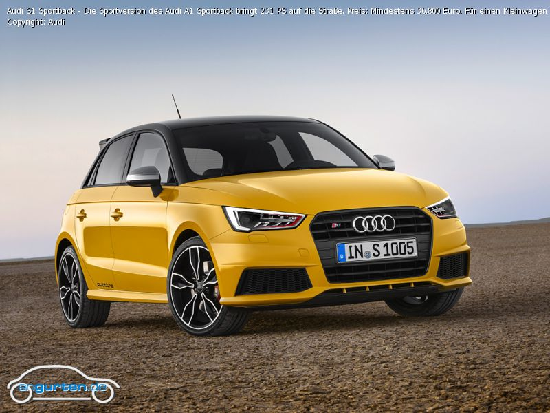 audi a1 sportback vegasgalb uni farben. Black Bedroom Furniture Sets. Home Design Ideas