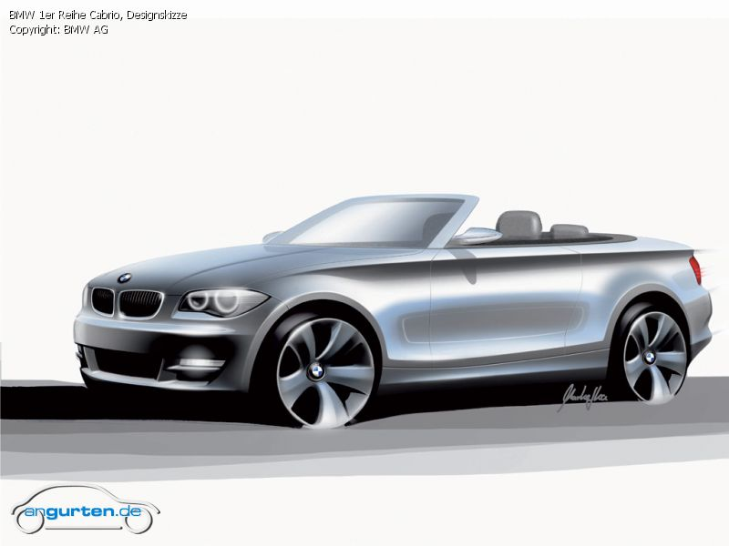 foto bild bmw 1er reihe cabrio designskizze. Black Bedroom Furniture Sets. Home Design Ideas