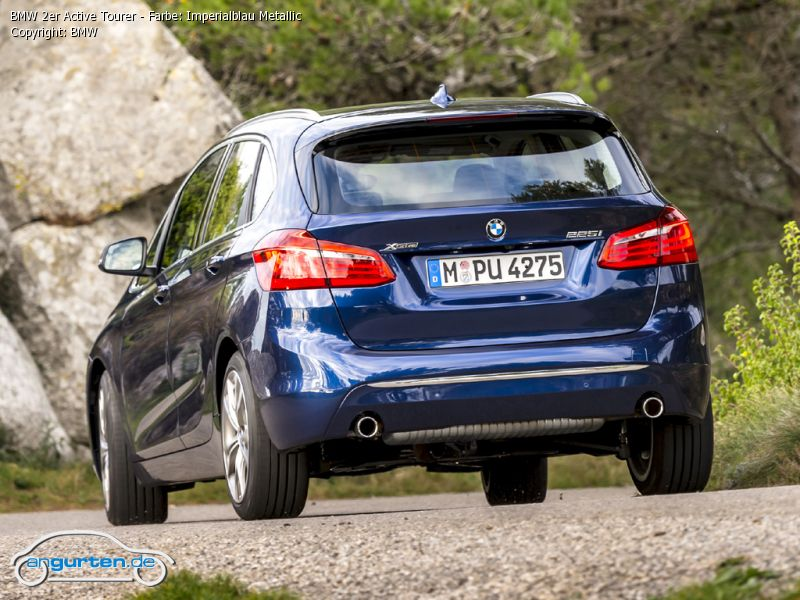 BMW 2er Active Tourer Imperialblau Metallic - Farben