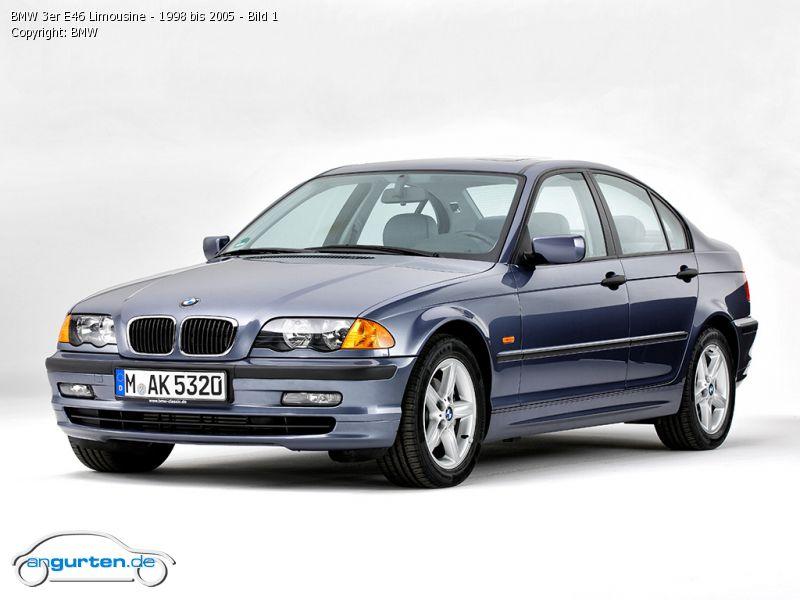 BMW 3er Limousine (E46-4) - Abmessungen & Technische Daten ...