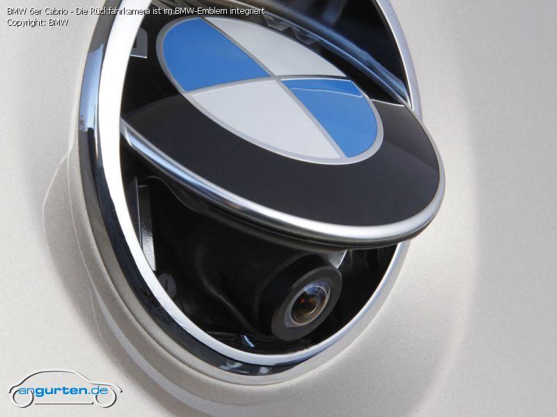 Foto Bmw 6er Cabrio Die R 252 Ckfahrkamera Ist Im Bmw Emblem