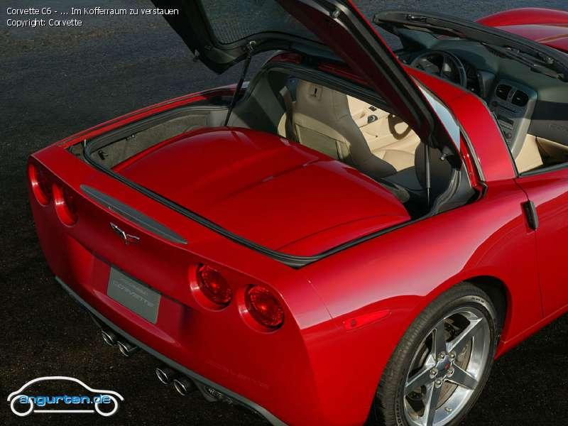 foto bild corvette c6 im kofferraum zu verstauen