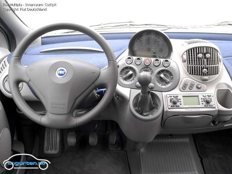 Foto Bild Fiat Multipla Innenraum Cockpit Angurten De