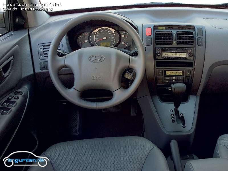 Foto Bild Hyundai Tucson Innenraum Cockpit Angurten De