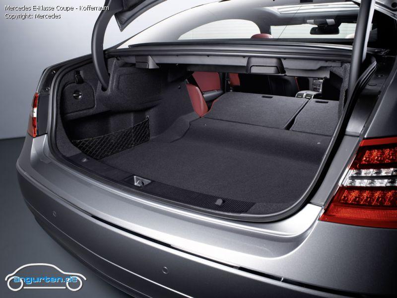 foto bild mercedes e klasse coupe kofferraum. Black Bedroom Furniture Sets. Home Design Ideas