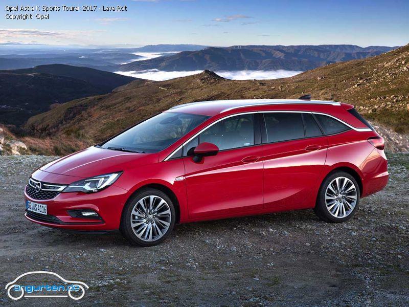 Opel Astra K Sports Tourer Lava Rot Uni Farben