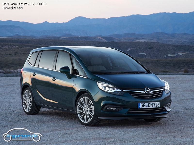 opel zafira 2017 smaragd gr n perleffekt farben. Black Bedroom Furniture Sets. Home Design Ideas