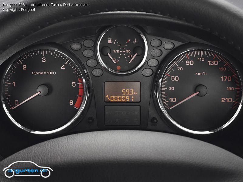 Foto Bild Peugeot 206 Armaturen Tacho