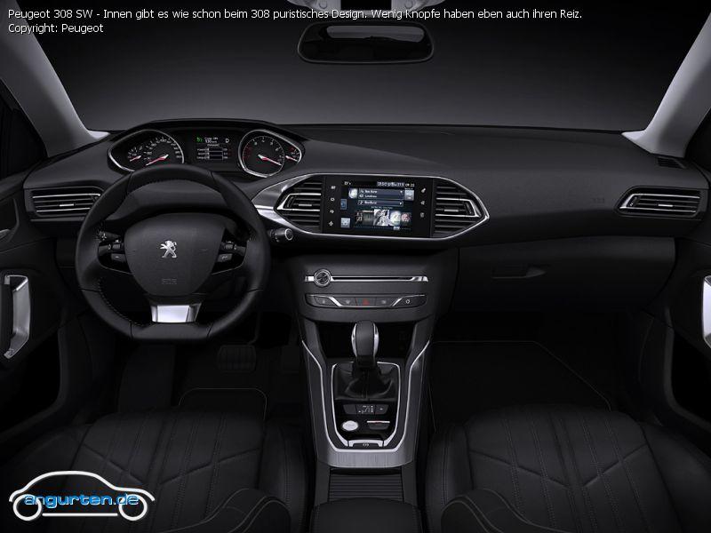 Foto Bild Peugeot 308 Sw Innen Gibt Es Wie Schon Beim 308 Puristisches Design Wenig Knopfe