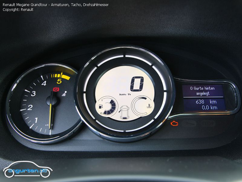 Foto Bild Renault Megane Grandtour Armaturen Tacho