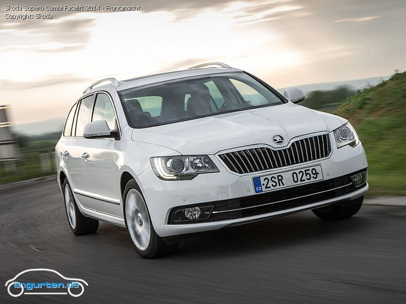 foto bild skoda superb combi facelift 2014 frontansicht. Black Bedroom Furniture Sets. Home Design Ideas