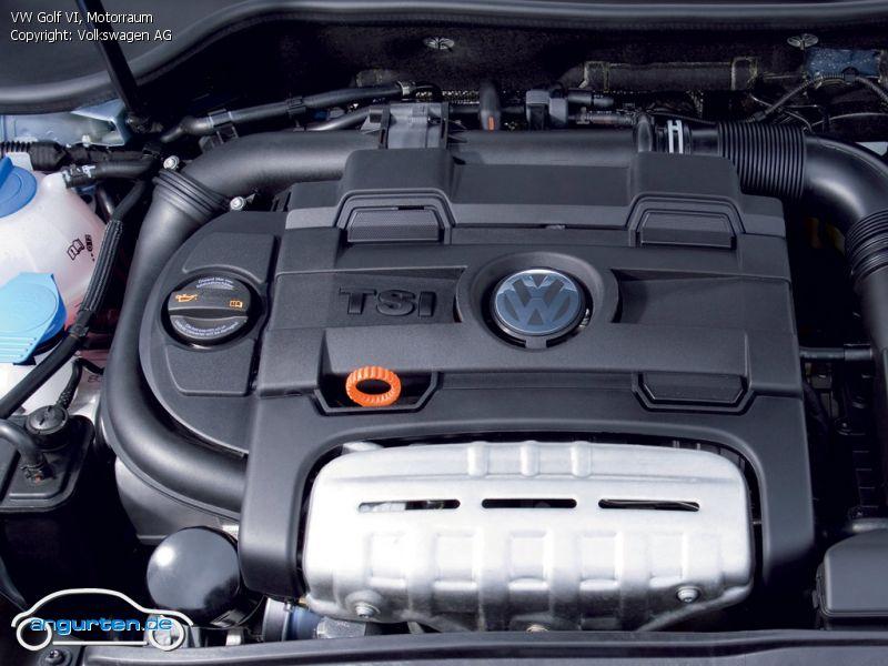 Foto (Bild): VW Golf VI, Motorraum (angurten.de)