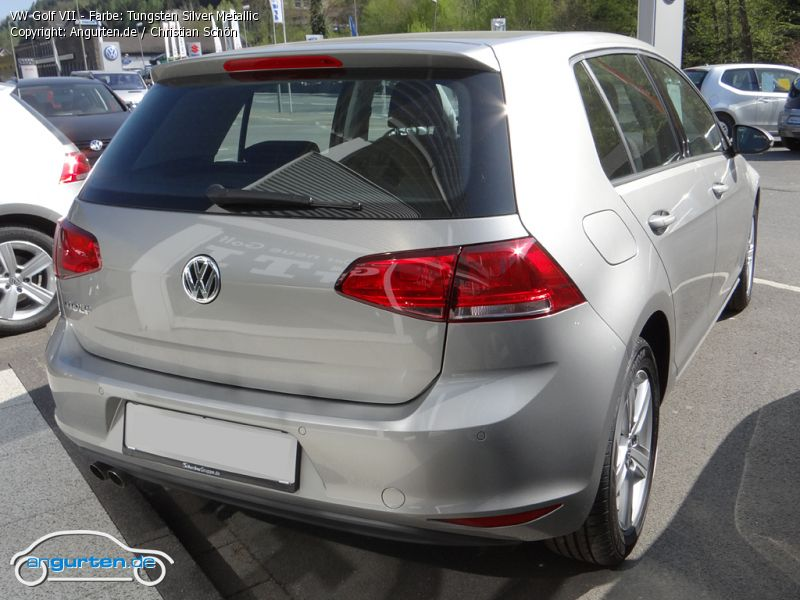vw golf vii tungsten silver metallic farben. Black Bedroom Furniture Sets. Home Design Ideas