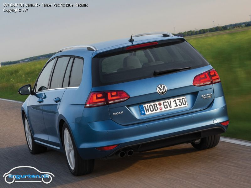 Vw Golf Vii Variant Pacific Blue Metallic Farben