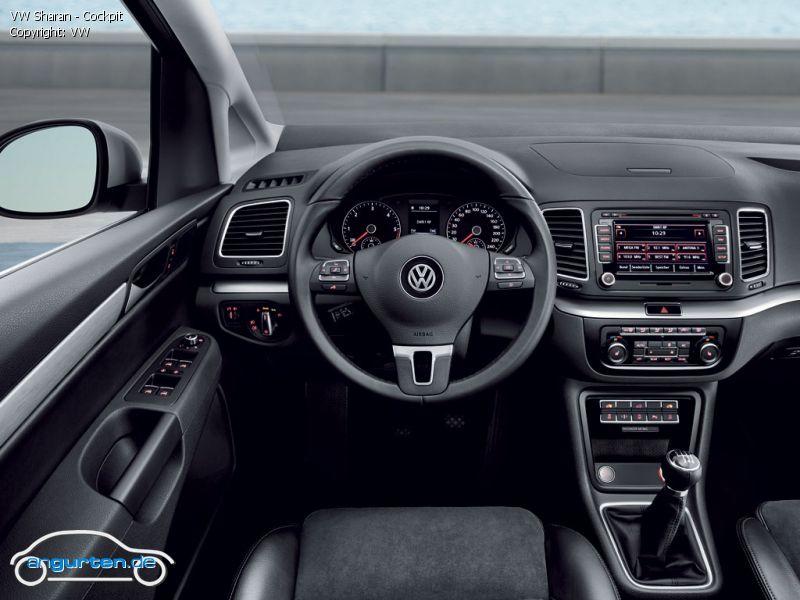 Foto Bild VW Sharan Cockpit Angurtende
