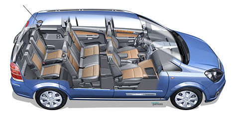 Foto Bild Das Flex7 Sitzkonzept Des Opel Zafira Angurten De