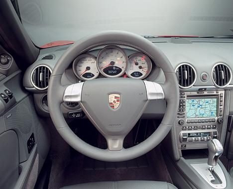 Foto (Bild): Porsche Boxster S, Cockpit (angurten.de)