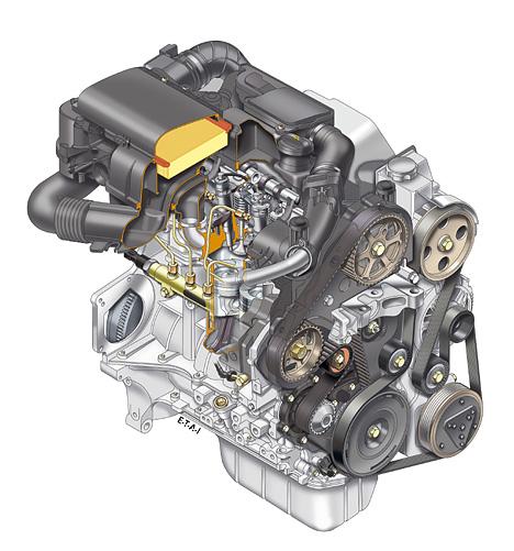 Foto (Bild): Toyota Aygo - Motor, Schnittzeichnung ...